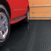 G-Floor Garage Floor Cover/Protector, 3m x 7.3m, Diamond Tread, Midnight Black