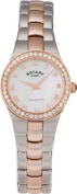 Rotary Ladies' Rose Gold and Stainless Steel Bracelet Watch.