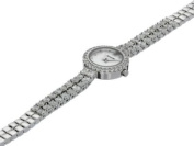 Accurist Ladies' White Crystal Watch.