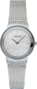 Accurist Ladies' Silver Plated Mesh Strap Watch.
