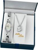 Sekonda Ladies' Silver Pendant and Watch Set.