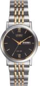 Citizen Men's Two-Tone Eco-Drive Bracelet Watch.