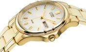Citizen Men's Gold Plated Eco-Drive Bracelet Watch.