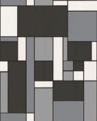 Contour Geo Wallpaper - Black.