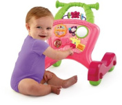 Bright Starts Pretty in Pink Sit-to-Stride Action Walker.