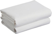 White Flat Cot Bed Baby Sheets - 2 Pack.