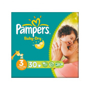Pampers Nappies Baby Dry Size 3 Midi