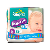 Pampers Nappies Active Fit Size 5 (Junior) 11-25kg 35 Nappies