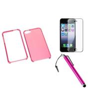 INSTEN T-Pink Case For Apple iPhone 5 + Film + Stylus Pen