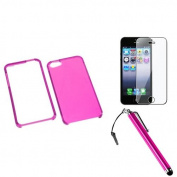 INSTEN T-Hot Pink Case For Apple iPhone 5 / 5s + Film + Stylus Pen