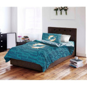 NFL Miami Dolphins Bed in a Bag Complete Bedding Set