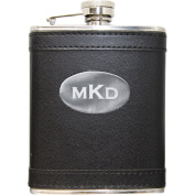 Personalised Leather Wrapped Flask, Available in 3 Colours
