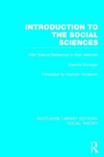Introduction to the Social Sciences (Routledge Library Editions