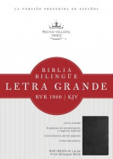 RVR 1960/KJV Biblia Bilingüe Letra Grande, negro imitación piel  [Spanish]