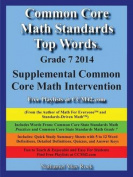 Common Core Math Standards Top Words Grade 7 2014 Supplemental Common Core Math Intervention
