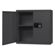 Quick-Assemble Electronic Lock Cabinet, 30w x 12d x 30h, Black