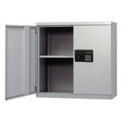 Quick-Assemble Electronic Lock Cabinet, 30w x 12d x 30h, Light Gray