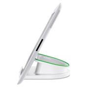 Rotating Desk Stand for Mobile Pads and Tablets, White
