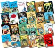 COMPLETE Adventures of Tintin Hardback Collection, 24 Books, (Land of Soviets, Congo, America, Cigars of the Pharaoh, Blue Lotus, Broken Ear, Black Island, Shooting Star, Secret of the Unicorn, Red Rackham's Treasure, Destination Moon..) (The Adventures o