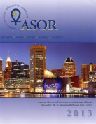 Asor Annual Meeting Program and Abstract Book 2013