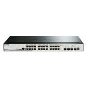 D-Link SmartPro DGS-1510-28 24-Port Gigabit Stackable Managed Switch with 2-Port SFP & 2-Port SFP+