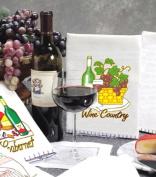Aunt Martha's World of Wine Kaleidoscopes, Full Colour Iron On Screenprinted Patterns, 2 Wine Themes