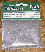 Glitter for Decoration Silver 30 Grammes 0.09cm Arts & Crafts