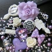BSI - 3D DIY Bling Bling Cell Phone Case Resin Flatback Kawaii Cabochons Decoration Kit / Set ~ Lt Purple