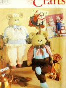 Simplicity 7548 or 606 Dress Animals or Dolls with Wood Block Body 60cm Tall Sewing Pattern