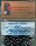 American Tag Lost Art Treasures (48235) Antique Nickel Pearl 0.5cm