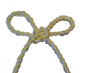 25 Yd Bolt Yellow and White Embellishment Rope Braid Trim Applique 6 Mm