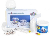 Seascape Gel Wax Candle Kit Ocean View and Fish Bowl
