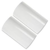 3 in 400 Ft Hot Foil Stamp 2 x 200 Ft Rolls White KINGSLEY HOWARD