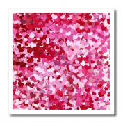 Lee Hiller Designs Holidays Valentines Day - Confetti Hearts Pinks - Iron on Heat Transfers