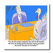 Londons Times Funny Holidays Cartoons - Thanksgiving Benefits For Turkey Employees - Iron on Heat Transfers