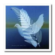 SmudgeArt Bird Artwork Designs - Silverwing - Fractal Dove - Bird Art - Iron on Heat Transfers