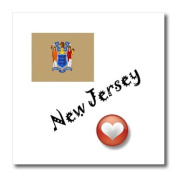 SmudgeArt State Flags for the USA - I Love New Jersey - Iron on Heat Transfers