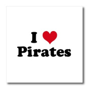 Mark Andrews ZeGear Love - I Love Pirates - Iron on Heat Transfers