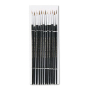 NEW - Artist Brush, Size 2, Camel Hair, Round, 12/Pack - 73502