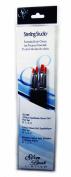 Silver Brush SS-109 Sterling Studio Golden Taklon Short Handle Flat Brush Set, 4 Per Pack
