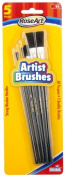 RoseArt Artist Brushes, 5-Count, Assorted Sizes, Packaging May Vary
