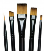 Majestic Royal and Langnickel Short Handle Paint Brush Set, Variety, 5-Piece