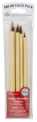 Royal & Langnickel Royal Zip N' Close Brown Bamboo 4-Piece Brush Set