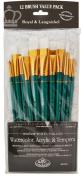Royal Brush Manufacturing Royal and Langnickel Zip N' Close 12-Piece Brush Set, Taklon