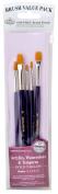 Royal & Langnickel Royal Zip N' Close Gold Taklon Shader 5-Piece Brush Set