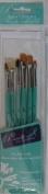 Pennelli Art's Paintbrushes - 6 Piece Set Gold Taklon