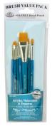 Royal Gold Taklon 7 Piece Value Pack Brush Set - Rset-9184