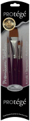 C2F Connoisseur Protege 4-Piece Premium Taklon Short Handle Brush Set