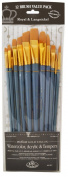 Royal Brush Manufacturing Royal and Langnickel Zip N' Close Brush Set, Medium Gold Taklon