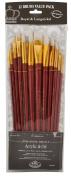 Royal Brush Manufacturing Royal and Langnickel Zip N' Close 12-Piece Brush Set, White Bristle